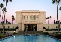 Mesa, Arizona LDS temple where David Hall and Sharon Hall were married.